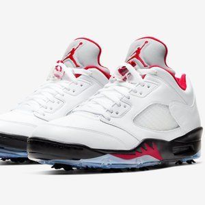 Nike Air Jordan 5 Retro Low Golf Shoes White V